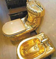Toilet-gold-plated